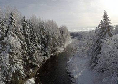 Overflight of River (Winter)