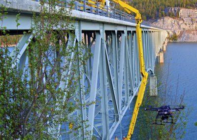 UAV Fly Over During Bridge Maintenance